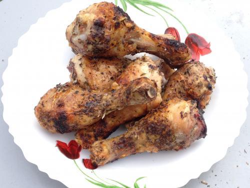 Куриные ножки верчёные (жаренные на шампурах)